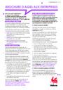 Inondations des 13, 14 et 15 juillet 2021 : Brochures d'aides aux entreprises