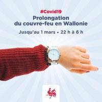 Coronavirus 11/02 : Plage-horaire du couvre-feu (de 22h à 6h) prolongée jusqu'au 1 mars 2021.