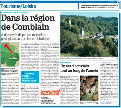 Comblain dans La Meuse 26 mai 2013