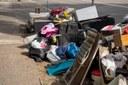 Collecte des déchets encombrants par le Service Travaux suite aux inondations de juillet 2021