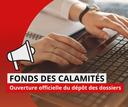 Ouverture du dépôt des dossiers au Fonds des Calamités